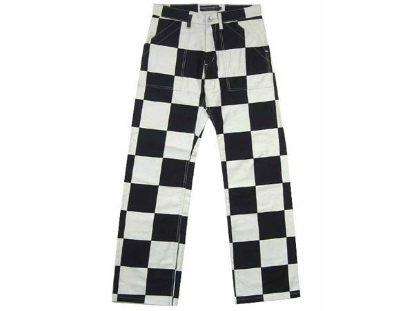 CHECKER PANTS WHITE×BLACK