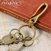 ASTRISK/日本製フック真鍮キーホルダー