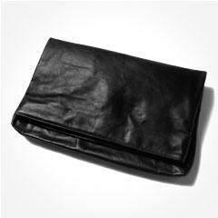日本製本革オールレザーショルダーベルト付きクラッチバッグ