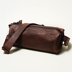 日本製本革ロールショルダーバッグ