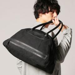 ButlerVernerSails/日本製10号パラフィン栃木レザーボストンバッグ