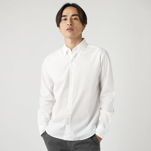 Upscape Audience/シャーリングボタンダウンシャツ