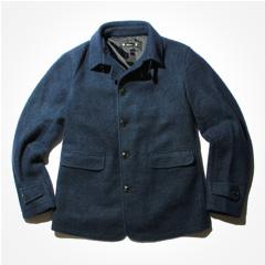 AUDIENCE/スライバーウールニットシングルPジャケット
