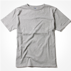Upscape Audience/米国製生地日本生産丸胴半袖ポケットTシャツ