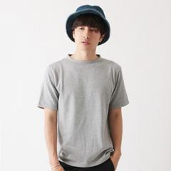 upscape Audience/日本製セーターライク天竺編みオフネックサイドスリットカットソー