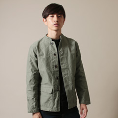 Upscape Audience/日本製ヨコムラバックサテンスタンドジャケット