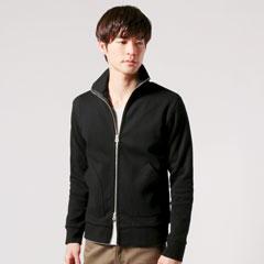 日本製ミラノリブスタンドジップジャケット