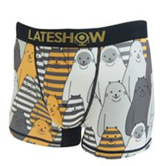 LATE SHOW/Border Cat メンズアンダーウェアボクサーパンツ