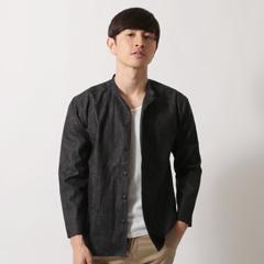 日本製綿麻デニムマオカラー9/Sライトジャケット