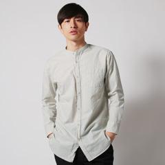 Upscape Audience/コットン100%サッカーバンドカラーシャツ