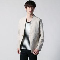 Upscape Audience/日本製綿麻キャンバスカラーレスジャケット