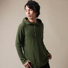 Buyer's Select/ワッフルロング丈Tパーカー