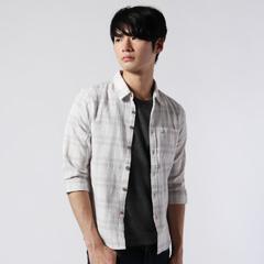 Buyer's Select/先染めパナママルチパターン7分袖/半袖シャツ