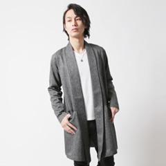 Revo/リターンカラー杢織りガウンスプリングコート