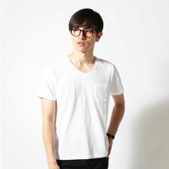 SLICK/日本製ロールネックデザイン杢半袖カットソー