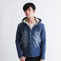 Buyer's Select/USED加工デニムフードシャツジャケット