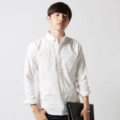 Upscape Audience/日本製オックスナローカラーボタンダウンプルオーバーシャツ