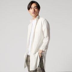 日本製ソフトリネンシャツコート