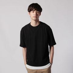 Upscape Audience/日本製吊り編み機ガゼットビッグショートスリーブTシャツ