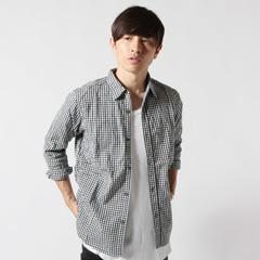 JohnBull/シャーリングドビーギンガム7部袖シャツ
