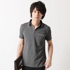 Buyer's Select/クールマックススキッパー半袖ポロシャツ