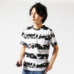 Buyer's Select/ムラボーダープリントポケット付きTシャツ
