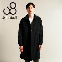 Johnbull/ダブルクロス2WAYストレッチフード脱着ステンカラーコート