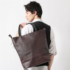 Buyer's Select/スムース×サフィアーノPUトートバッグ