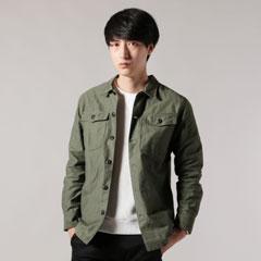 日本製パウダースノーバックサテンファティーグジャケット