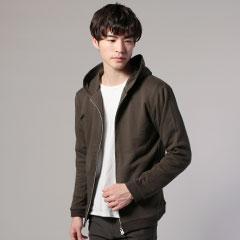 日本製スウェットフードZIPジャケット