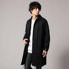 日本製コーマウェザールーズフィットコーチステンカラーコート