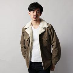 裏ボア コーデュロイ / デニム ランチコート