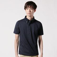 TCシルケット鹿の子ボタンダウン半袖ポロシャツ