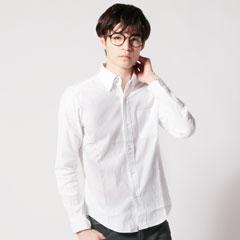 日本製ドビーオックスフォードボタンダウン6つボタン長袖シャツ