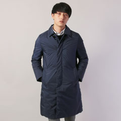 日本製ステンカラーオーロラダウンコート