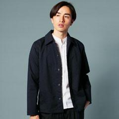 日本製ギャバジンストレッチコーチステンカラージャケット
