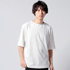 日本製シアサッカー天竺ビッグTee