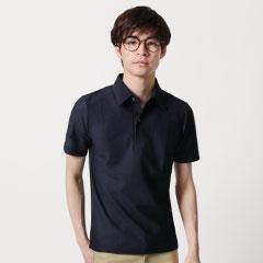 日本製ハニカムシルケット半袖ポロシャツ