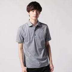 日本製ワイドカラーシルケット天竺ボーダー半袖刺繍ポロシャツ