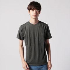 日本製コーマ天竺グラスポケット付ショートスリーブTシャツ
