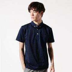 日本製クールマックス鹿の子半袖グラスポケット付ポロシャツ