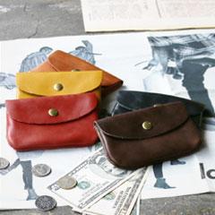 日本製牛革ミニ財布