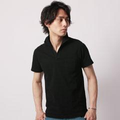 TC鹿の子イタリアン襟ワイヤー入り半袖ポロシャツ