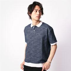 袖リブ半袖ポロシャツ