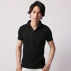 ランダムテレコスキッパー半袖ポロシャツ