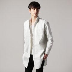 日本製ピーチ起毛ツイルローマシャツコート