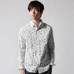 日本製ラフタッチスタープリントレギュラーシャツ