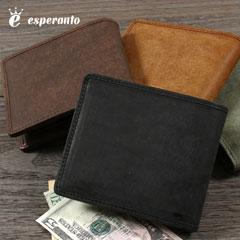 本革プエブロレザー日本製二つ折り財布