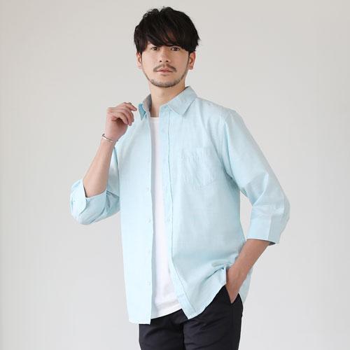 カットソーのような柔らかい生地で着心地の良いスラブシャツ