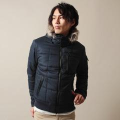 Buyer's Select/ウールライクヘリンボーン撥水加工中綿入りジャケット